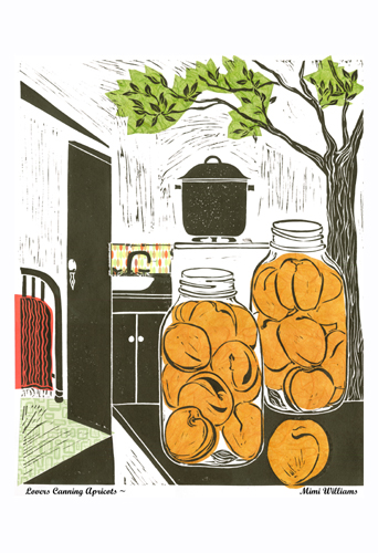 Lovers Canning Apricots